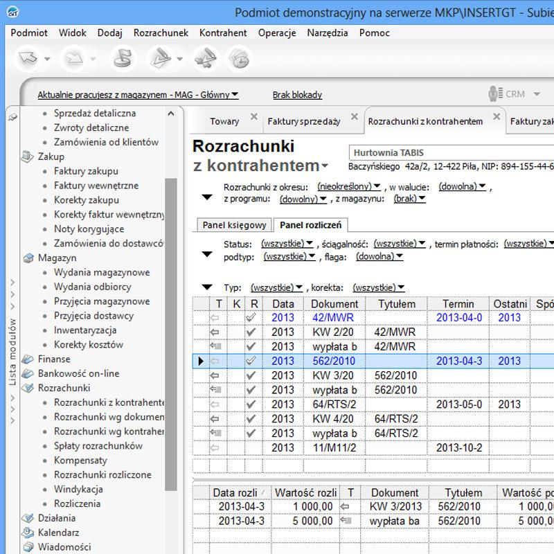 Kontrola wydań magazynowych - zrzut ekranu