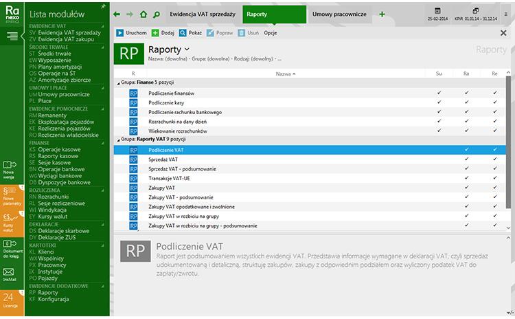 Rachmistrz nexo PRO - zrzut ekranu